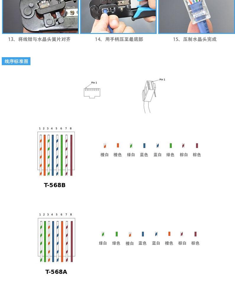 网络电话线水晶头压线钳 rj11+rj45接线头网钳工具