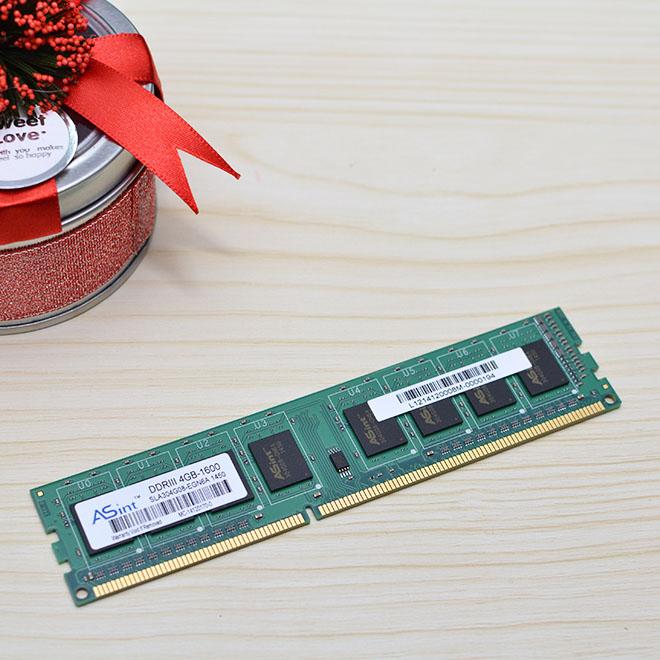原装昱联 Asint 4G/1600 (DDR3) 台式机内存条(单个拍不包邮,2个起提包邮)