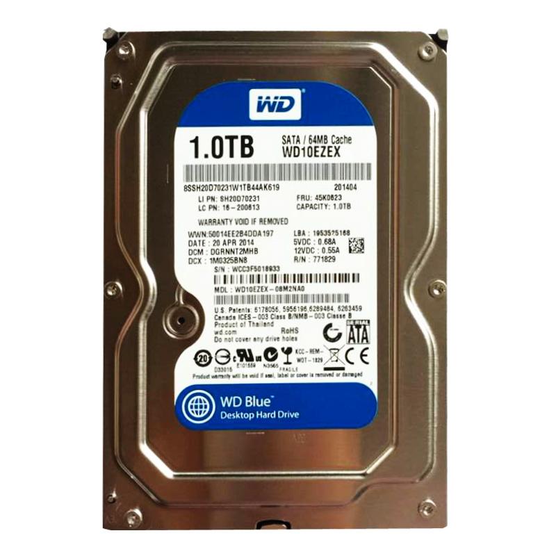 西部数据(WD) 1TB 硬盘SATA (64M-蓝盘)(单个拍不包邮,2个起提包邮)