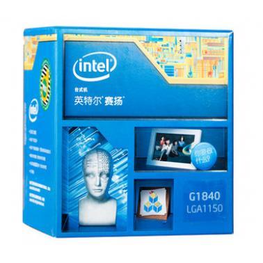 Intel/英特尔 G1840 赛扬cpu双核 原包盒装处理器