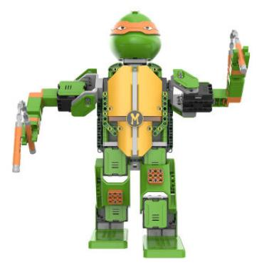 优必选Jimu忍者龟积木智能机器人玩具 儿童益智电动遥控拼装玩具 米开朗基罗-APP遥控积木智能机器人