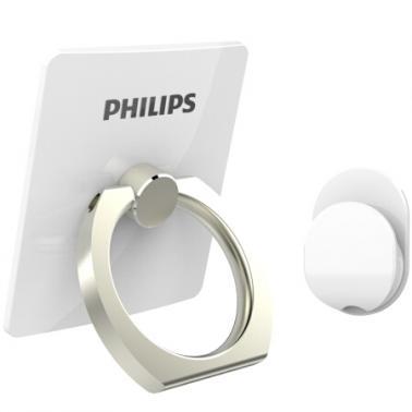 飞利浦 DLK35003 手机便携支架 金属指环扣支架 创意配件车载懒人支架 适用于6S/三星/华为等手机