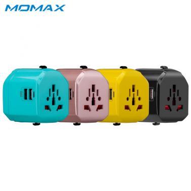 MOMAX摩米士全球旅行充电器插座 手机智能充电器 双USB转换插头