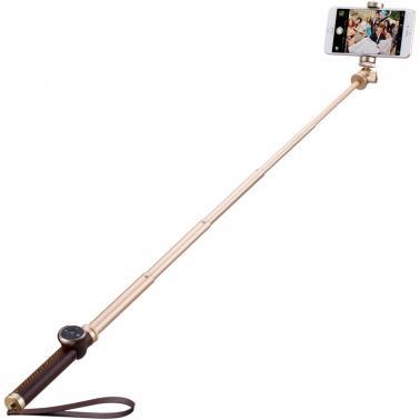MOMAX摩米士精英自拍杆 手机自拍杆蓝牙自拍 杆通用金属皮革折叠 90cm