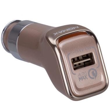 MOMAX摩米士车载充电器头 汽车点烟器电源USB车充 QC2.0快充