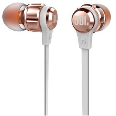 JBL T180A 立体声入耳式耳机 耳麦 一键式线控 麦克风 粉色