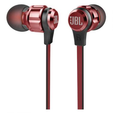 JBL T180A 立体声入耳式耳机 耳麦 一键式线控 麦克风 红色