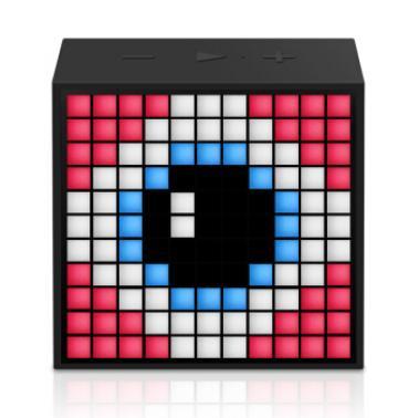 DIVOOM Timebox mini智能音箱 手机无线便携闹钟创意蓝牙音响灯创意礼品 低调黑