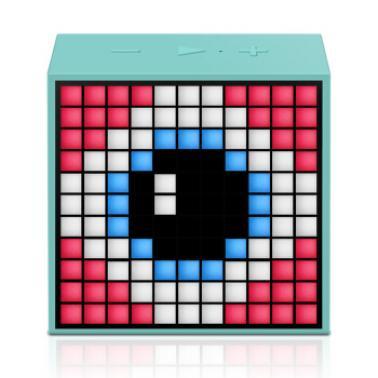 DIVOOM Timebox mini智能音箱 手机无线便携闹钟创意蓝牙音响灯创意礼品 清新绿