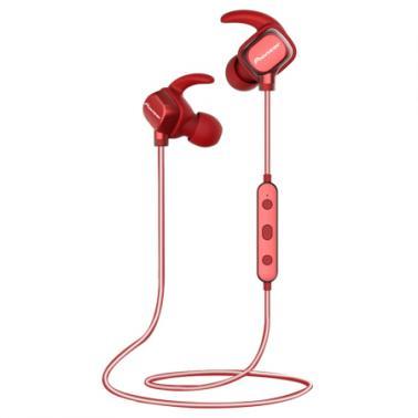 先锋(Pioneer)E521BT 入耳式无线蓝牙运动耳机 反光线 红色