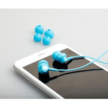 凡尚 A2 手机线控耳机 入耳式音乐时尚耳机 多彩迷你圆线耳麦带线控 带话筒麦克风可语音 蓝色