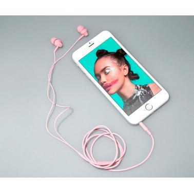 凡尚 A2 手机线控耳机 入耳式音乐时尚耳机 多彩迷你圆线耳麦带线控 带话筒麦克风可语音 粉色