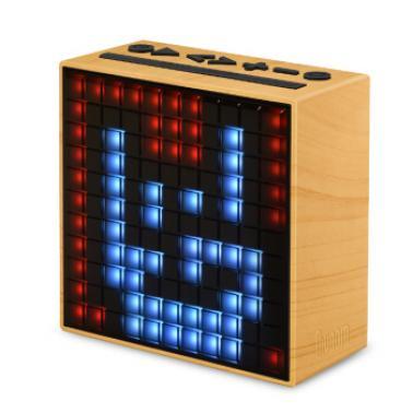 DIVOOM Timebox第2代智能蓝牙像素音箱 手机智能闹钟音响 LED灯创意礼品 木色