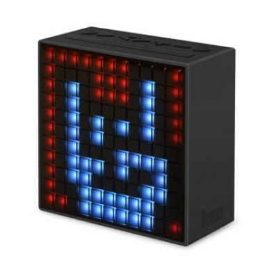 DIVOOM Timebox第2代智能蓝牙像素音箱 手机智能闹钟音响 LED灯创意礼品 黑色