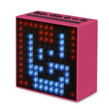 DIVOOM Timebox第2代智能蓝牙像素音箱 手机智能闹钟音响 LED灯创意礼品 粉色